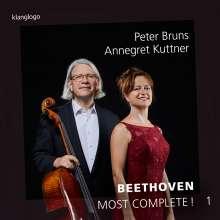 Ludwig van Beethoven (1770-1827): Werke für Cello & Klavier - Most Complete! Vol.1, CD