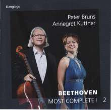 Ludwig van Beethoven (1770-1827): Werke für Cello & Klavier - Most Complete! Vol.2, CD