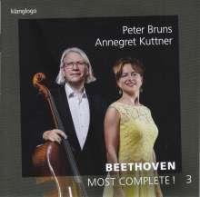 Ludwig van Beethoven (1770-1827): Werke für Cello & Klavier - Most Complete! Vol.3, CD