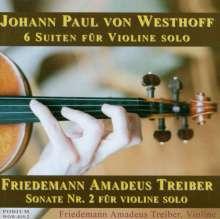 Johann Paul von Westhoff (1656-1705): Suiten Nr.1-6 für Violine solo (1696), CD