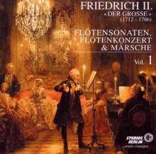"""Friedrich II.von Preussen """"Friedrich der Große"""" (1712-1786): Flötensonaten Nr.1,2,9,11,21,25, CD"""