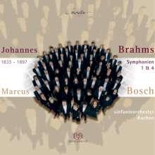 Johannes Brahms (1833-1897): Symphonien Nr.1 & 4, Super Audio CD