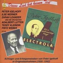 Peter Igelhoff: Dieses Lied hat keinen Text, CD