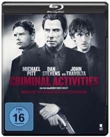 Criminal Activities (Blu-ray), Blu-ray Disc