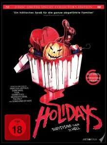 Holidays - Surviving them is Hell (Blu-ray & DVD im Mediabook), 1 Blu-ray Disc und 1 DVD