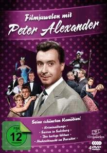 Filmjuwelen mit Peter Alexander - Seine schönsten Komödien!, 4 DVDs