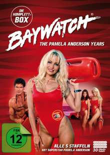 Baywatch - The Pamela Anderson Years (Komplettbox), 30 DVDs