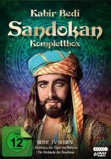 Sandokan (Komplettbox), 6 DVDs