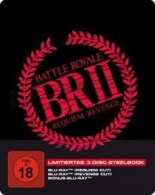 Battle Royale 2 (Requiem & Revenge Cut) (Blu-ray im Steelbook), 3 Blu-ray Discs