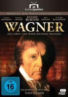 Wagner - Das Leben und Werk Richard Wagners (Komplette Miniserie), 3 DVDs