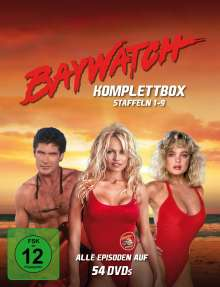Baywatch (Komplettbox Staffel 1-9), 30 DVDs