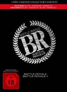 Battle Royale 1 & 2 (Blu-ray im Mediabook), 3 Blu-ray Discs