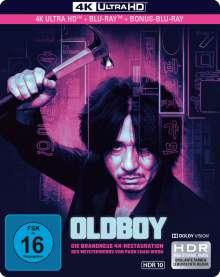 Oldboy (2003) (Ultra HD Blu-ray & Blu-ray im Steelbook), 3 Ultra HD Blu-rays