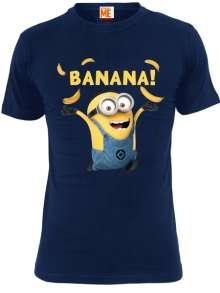Minions: Banana (Shirt L/Navy), T-Shirt