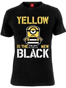 Minions: Yellow Is The New Black (Shirt L/Black), T-Shirt