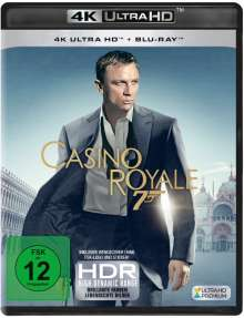 James Bond: Casino Royale (Ultra HD Blu-ray & Blu-ray), 1 Ultra HD Blu-ray und 1 Blu-ray Disc