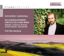Riccardo Zandonai (1883-1944): Das gesamte Klavierwerk, CD