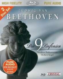 Ludwig van Beethoven (1770-1827): Symphonien Nr.1-9, 2 Blu-ray Audios