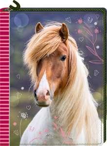 Tagebuch mit Reißverschluss - Pferdefreunde, Buch