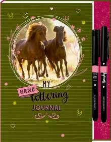 Notizbuch mit Extras - Pferdefreunde - My Handlettering Journal, Buch