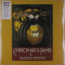 Emerson, Lake & Palmer: Live At Pocono International Raceway, U.S.A., 8th July 1972 (remastered) (Limited-Edition) (Yellow & Brown Vinyl), 2 LPs