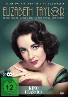 Elizabeth Taylor Box (4 Filme auf 2 DVDs), 4 DVDs