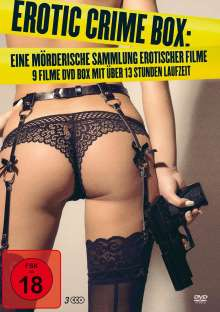 Erotic Crime Box (9 Filme auf 3 DVDs), 3 DVDs