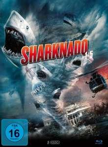 Sharknado 1-5 (Blu-ray im Mediabook), 5 Blu-ray Discs
