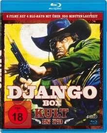 Django Box - Kult in HD (6 Filme auf 4 Blu-rays), 4 Blu-ray Discs