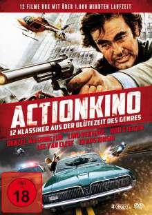 Actionkino - 12 Klassiker aus der Blütezeit des Genres (12 Filme auf 4 DVDs), 4 DVDs
