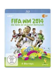 FIFA WM 2014 - Alle Spiele der deutschen Mannschaft (Blu-ray), 4 Blu-ray Discs