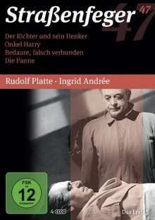 Straßenfeger Vol.47: Der Richter und sein Henker / Onkel Harry / Bedaure, falsch verbunden / Die Panne, 4 DVDs