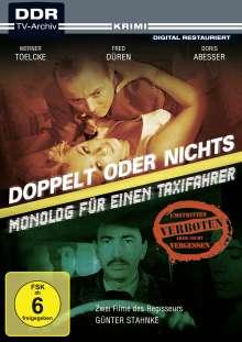 Doppelt oder nichts / Monolog für einen Taxifahrer, DVD