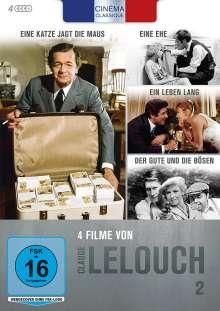 Cinéma Classique Claude Lelouch Box 2, 4 DVDs