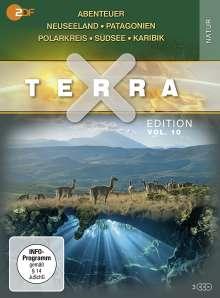 Terra X Vol. 10: Abenteuer Neuseeland / Patagonien / Polarkreis / Südsee / Karibik, 3 DVDs