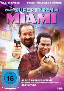 Zwei Supertypen in Miami (Alle 6 Originalfilme), 3 DVDs
