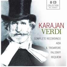 Herbert von Karajan - Verdi (Gesamtaufnahmen), 8 CDs