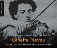Ginette Neveu - The Complete Studio Recordings, 4 CDs