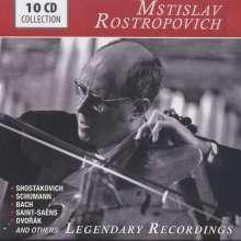 Mstislav Rostropovich - Legendary Recordings, 10 CDs