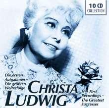Christa Ludwig - Die ersten Aufnahmen / Die größten Welterfolge, 10 CDs