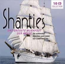 Shanties: Das größte Musikfest der Meere (Wallet- Box), 10 CDs