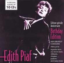 Edith Piaf (1915-1963): Birthday Edition, 10 CDs