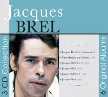 Jacques Brel (1929-1978): 6 Original Albums, 3 CDs
