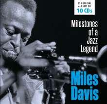 Miles Davis (1926-1991): Milestones Of A Jazz Legend - 21 Original Albums, 10 CDs