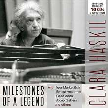 Clara Haskil - Milestones of a Legend, 10 CDs