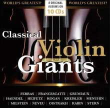 Classical Violin Giants, 10 CDs