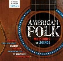 Folk Music Sampler: American Folk: Milestones Of Legends, 10 CDs