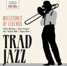 Jazz Sampler: Trad Jazz (Milestones Of Legends), 10 CDs