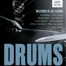 Jazz Sampler: Drums: Milestones Of Jazz Legends, 10 CDs