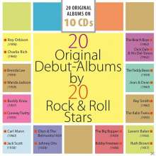 20 Original Debut-Albums By 20 Rock & Roll-Stars, 10 CDs